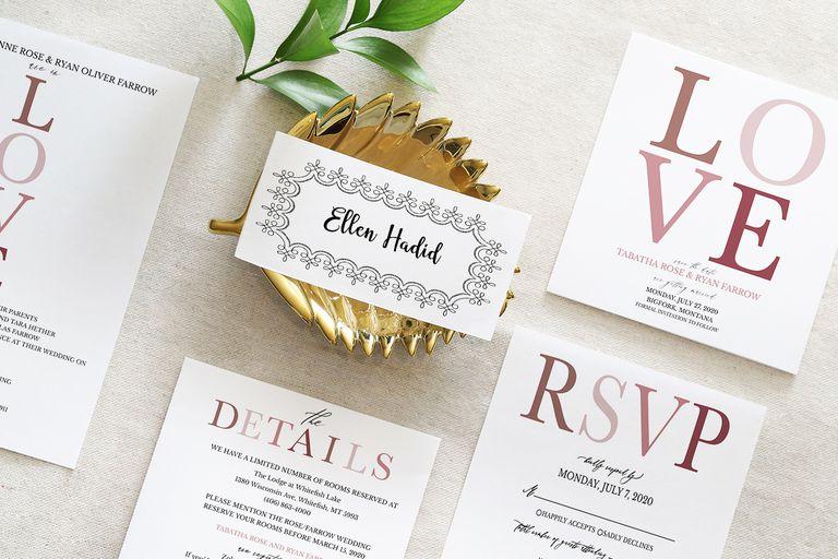 free printable wedding items