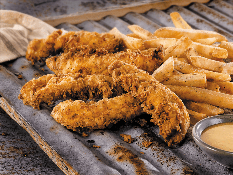 Chicken tenders and french fries