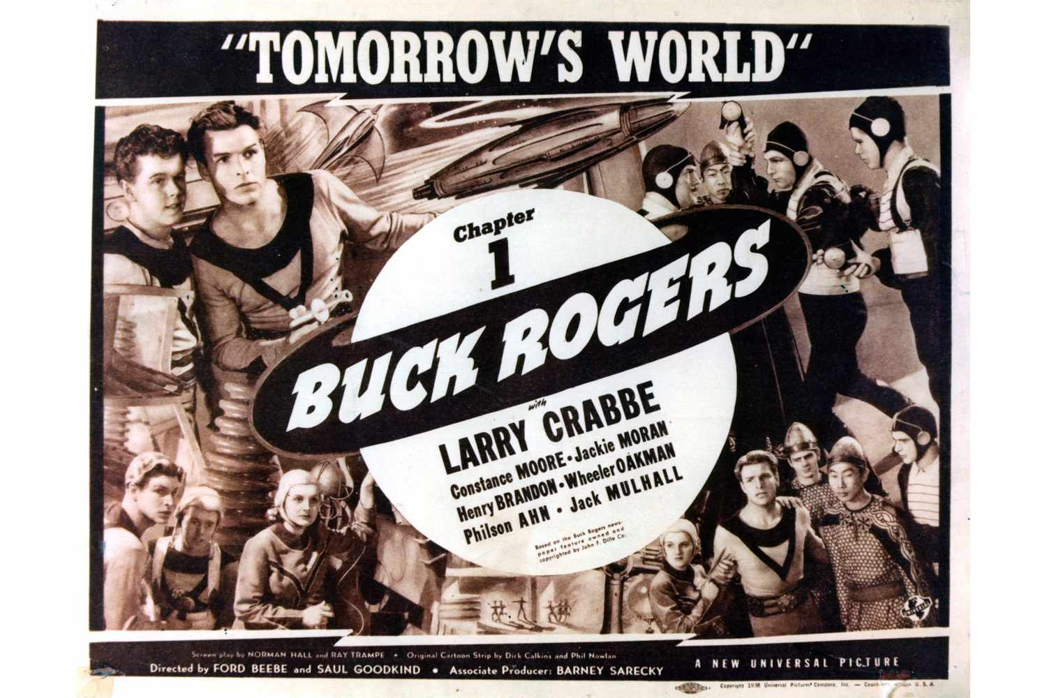 A poster for the 1939 film serial 'Buck Rogers'