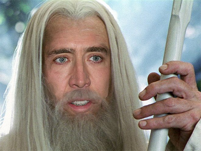 Nic Cage as Gandalf