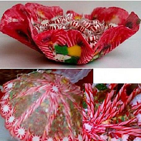 Example of a candy bowl craft and a failed attempt