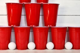 Red Plastic Drinking Cups