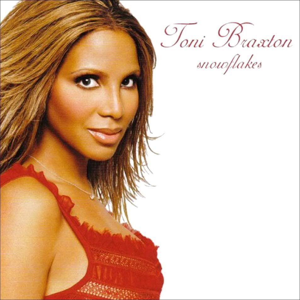 Toni Braxton Christmas album cover.