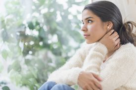 Woman thinking about being single