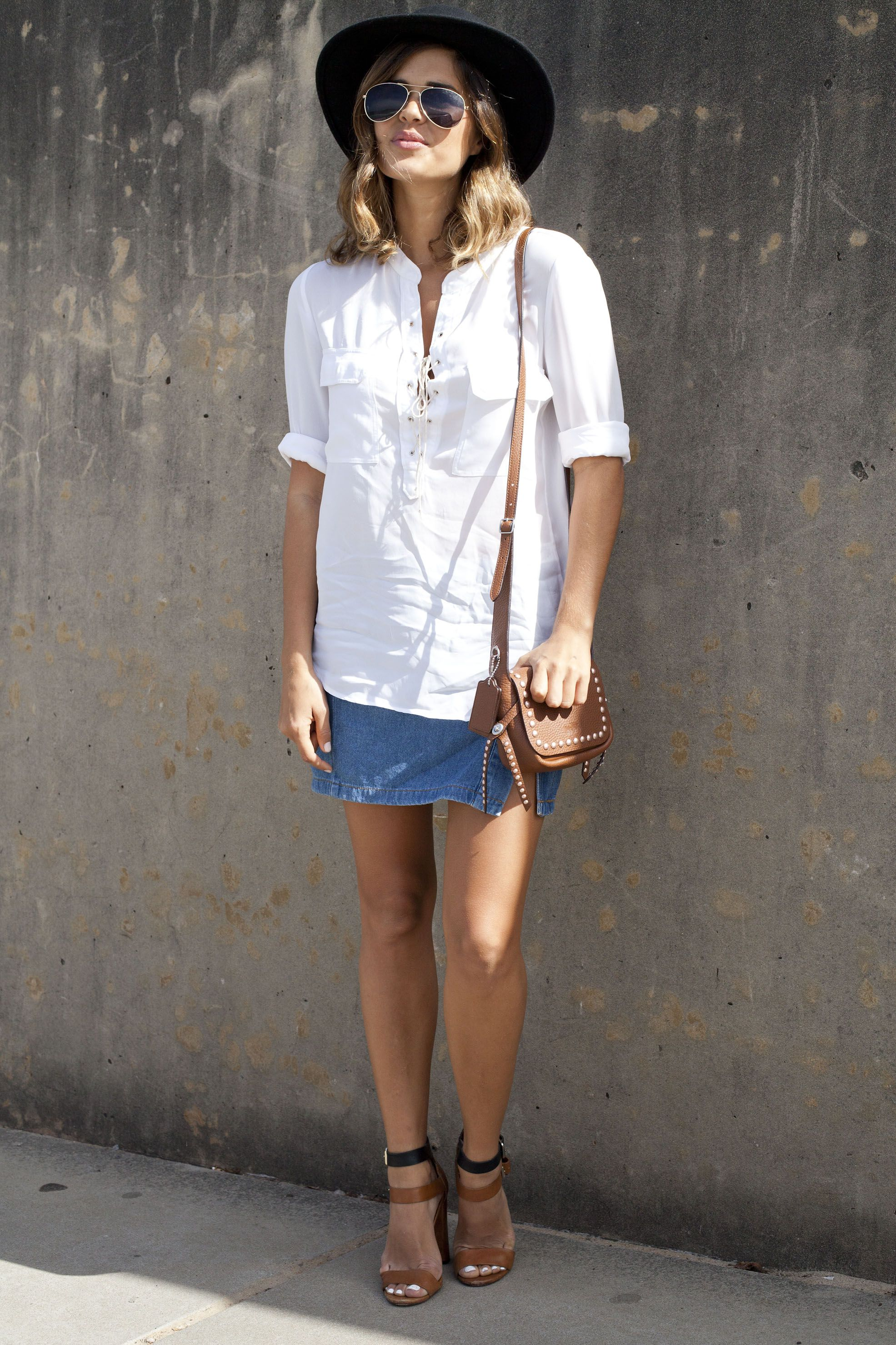 Jean Skirt Outfits What To Wear With A Denim Skirt