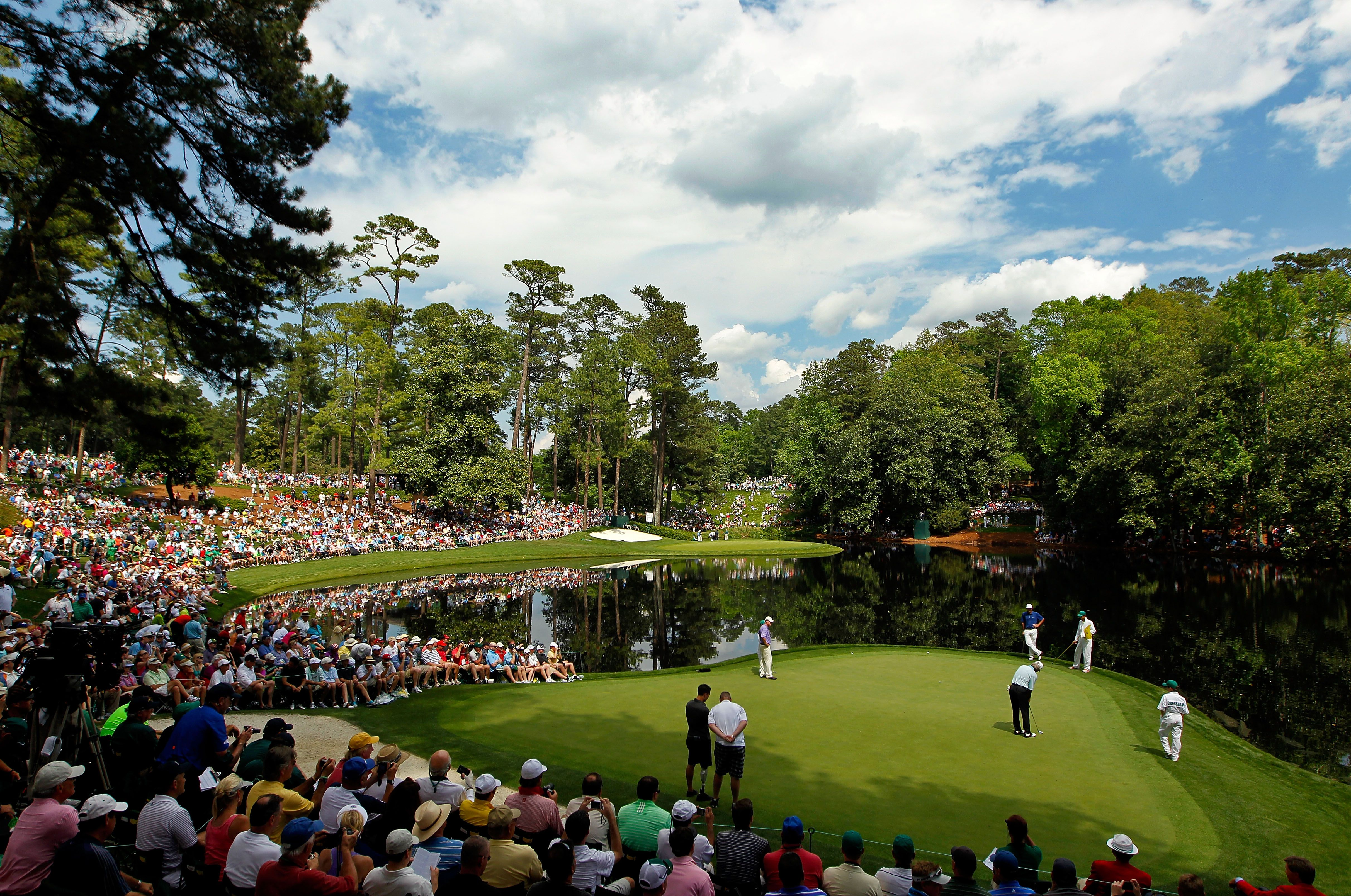 General view of the Par-3 Course at Augusta National including Ike's Pond.