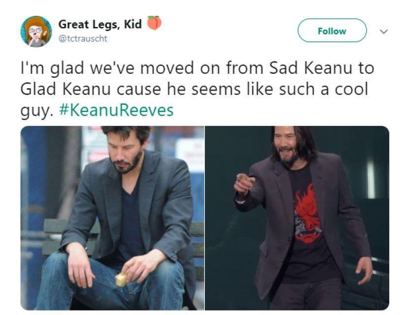 Sad Keanu versus Glad Keanu