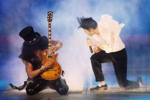 Michael Jackson and Slash