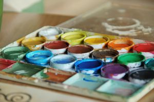 Watercolors in pans