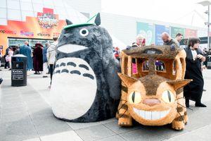 Plush Totoro and Cat bus