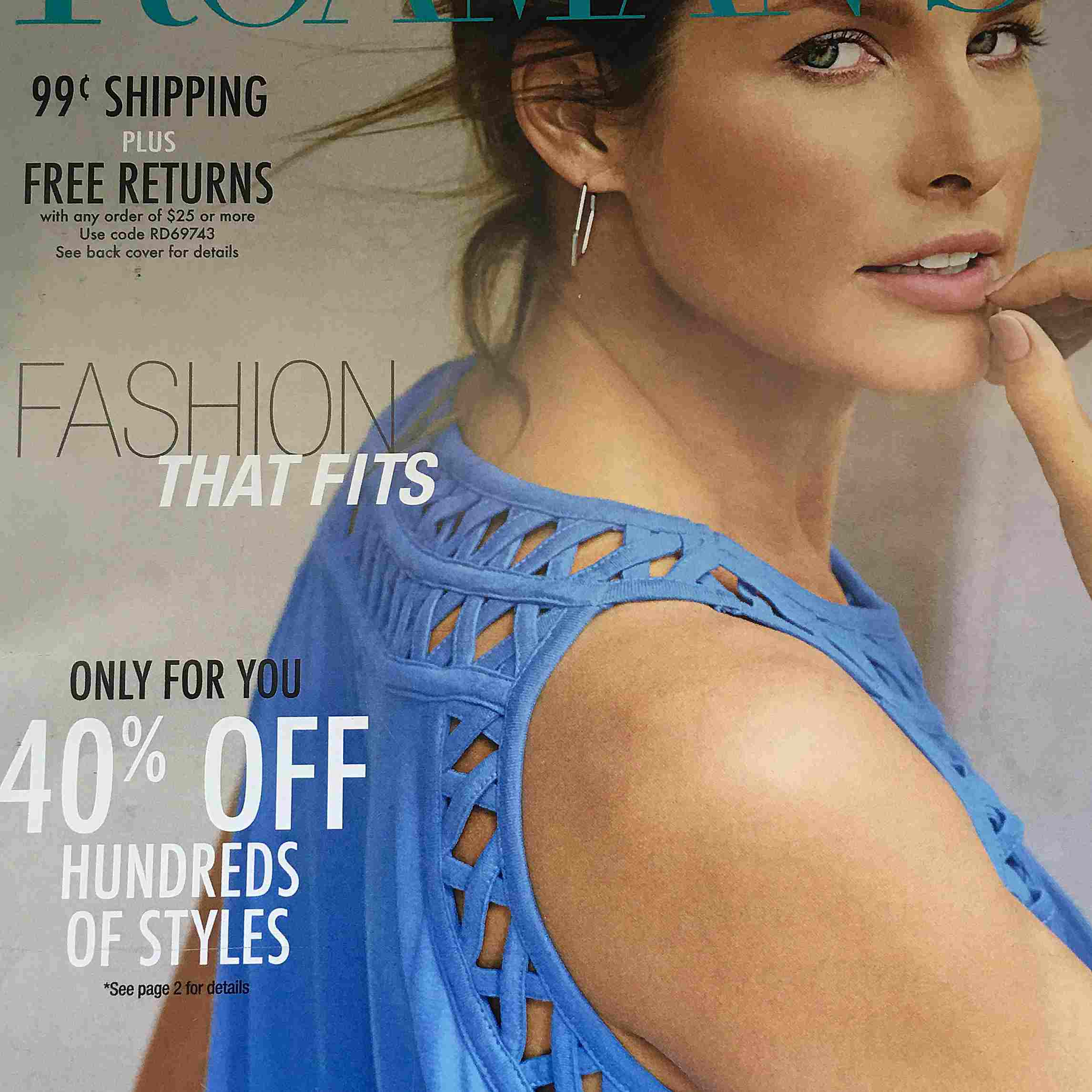 The cover of the latest Roaman's catalog