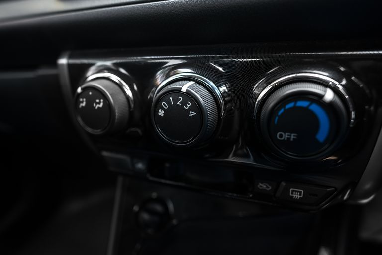 Car Interior, Air conditioning button