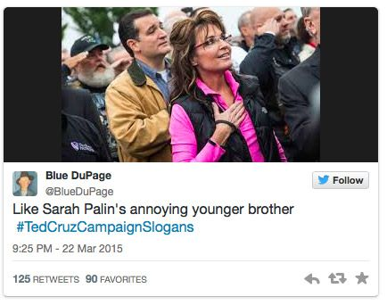 Ted Cruz: Like Sarah Palin's Annoying Younger Brother
