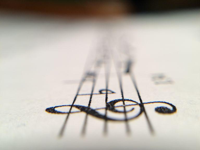 Macro Shot Of Musical Notes