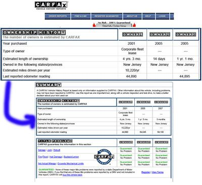 How To Read A Carfax Report