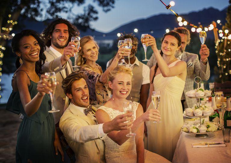 Enjoying a wedding alone