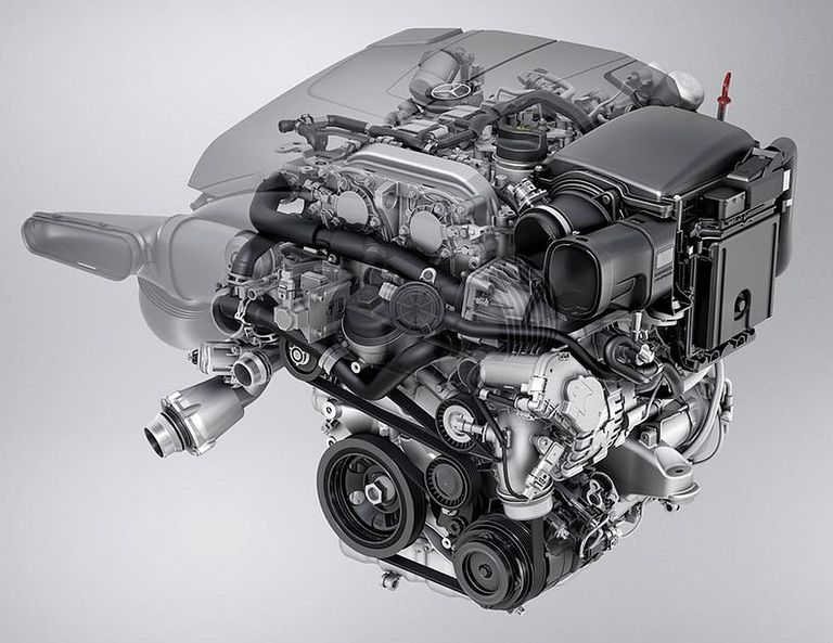 Mercedes-Benz's BlueDIRECT 2.0-liter 4-cylinder direct injection engine