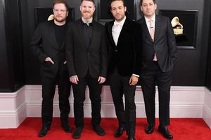 fall out boy at grammy awards red carpet