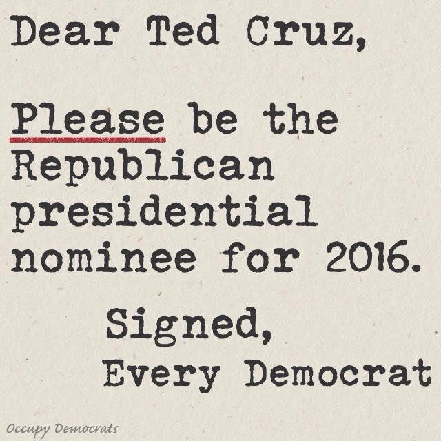 Dear Ted Cruz