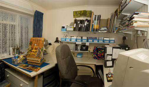 Artist's painting studio