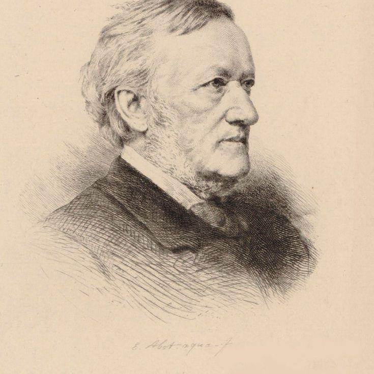 Portrait of the composer Richard Wagner