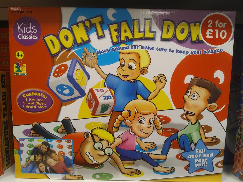 Knock off Twister game called Don't Fall Down