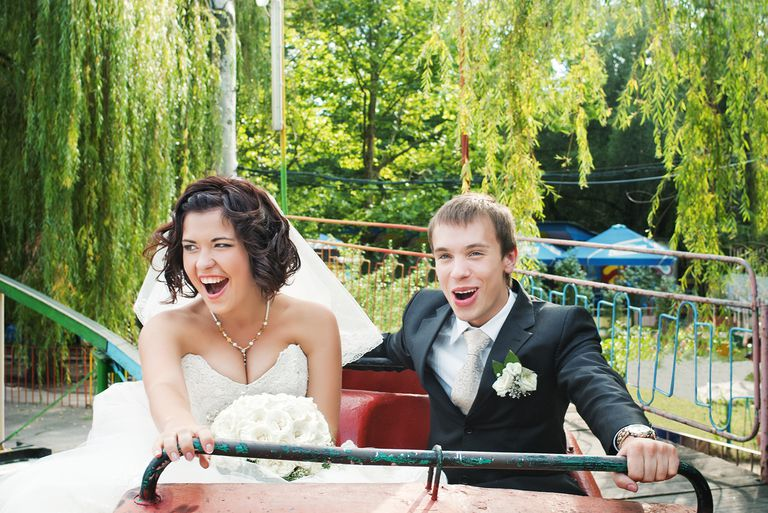 Newlyweds on Rollercoaster