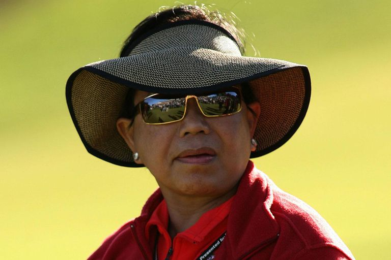 THOUSAND OAKS, CA - DECEMBER 17: Kultida Woods watches her son Tiger during the final round of the Target World Challenge at Sherwood Country Club on December 17, 2006 in Thousand Oaks, California.