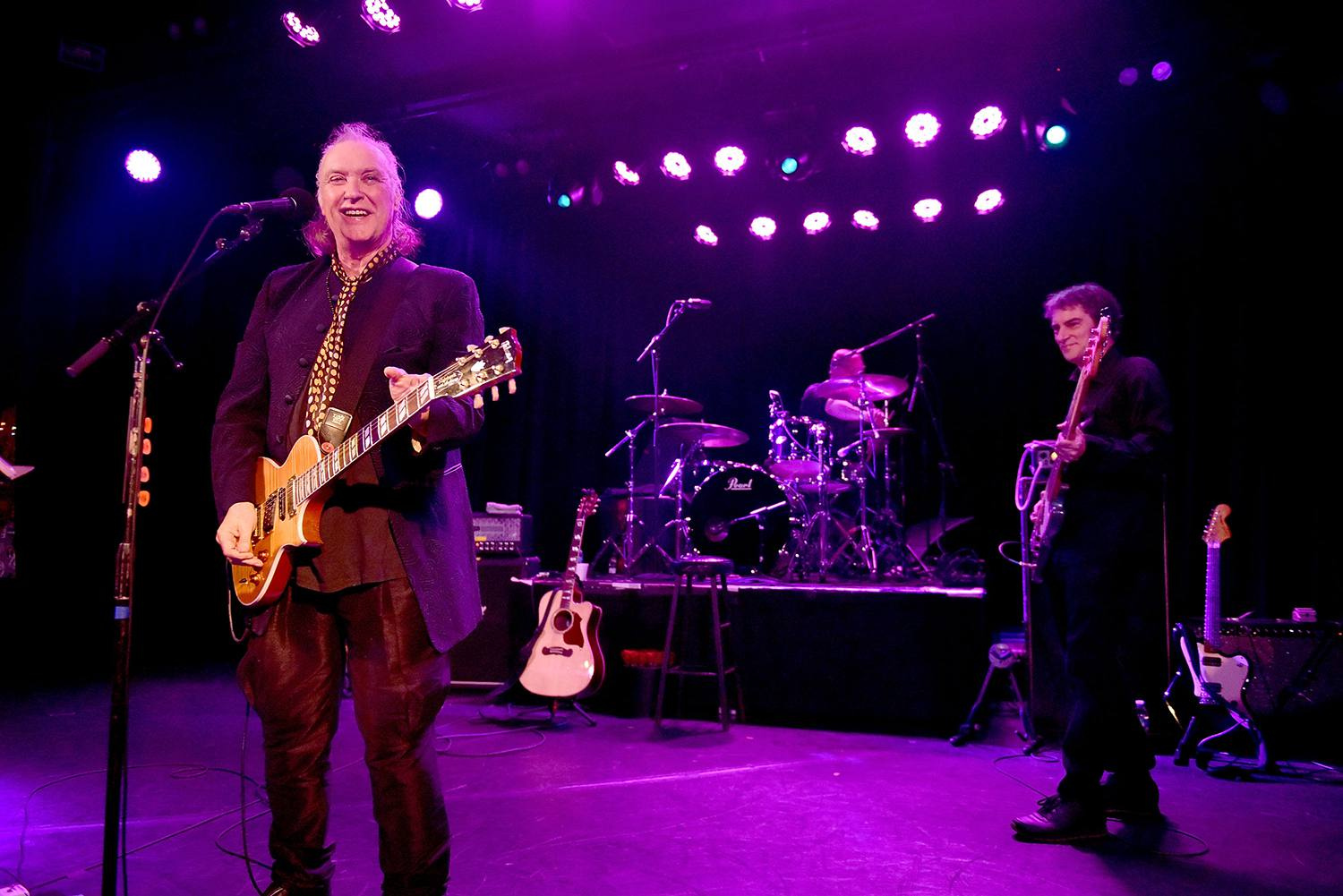 Rock and Roll Hall of Fame member Dave Davies (L), co-founder of The Kinks