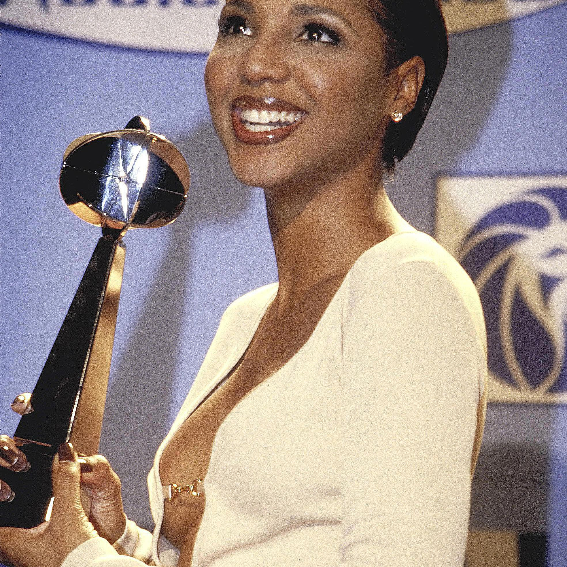 Toni Braxton accepting a billboard music award