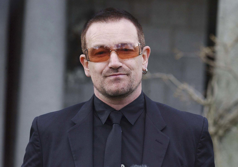 Bono head shot full color photograph.