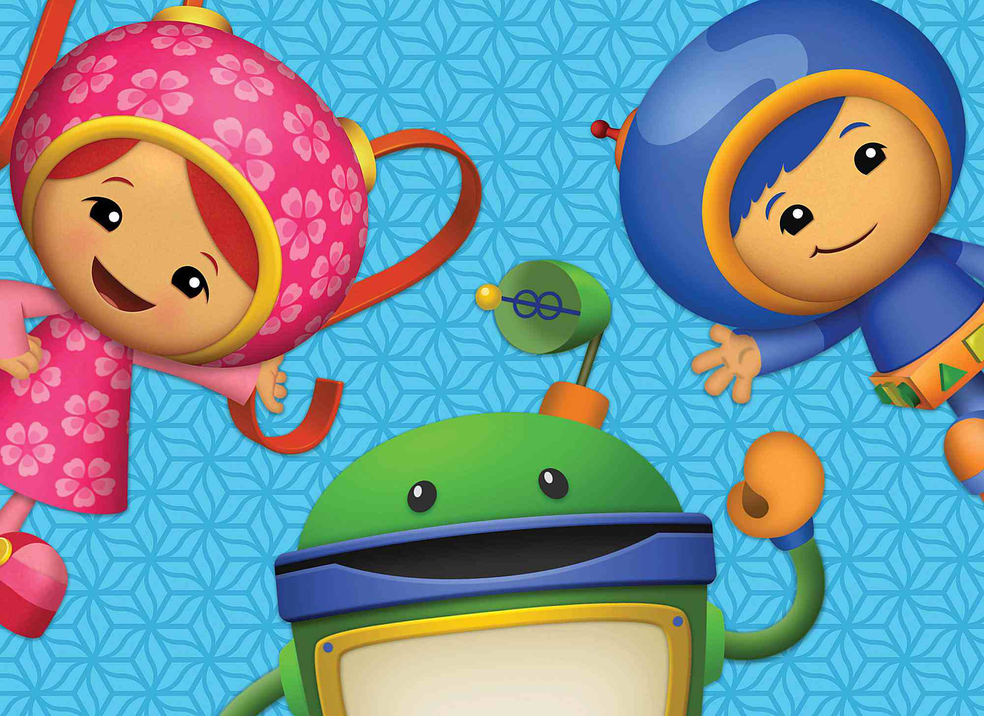 Team Umizoomi all three characters on a blue background.