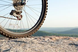 Bike wheel, close up