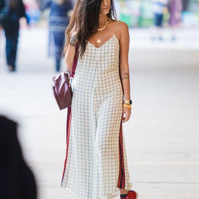 1c44931d258384 Woman wearing a checked culotte dress. Mauricio Santana. When is a summer  ...