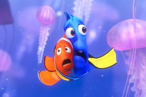 marlin and dori from finding nemo