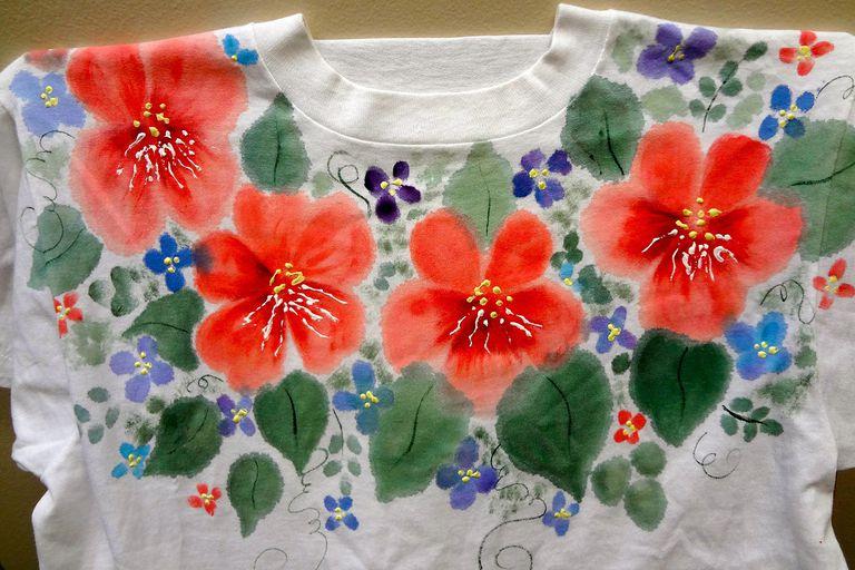 Fabric paint tshirt