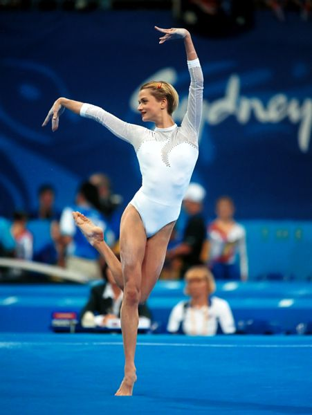 Gymnast Svetlana Khorkina at the Sydney Olympics