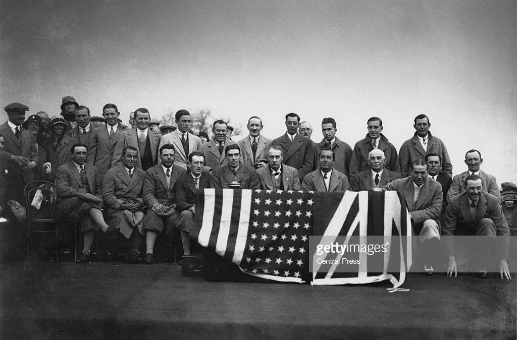 American and Britsh Ryder Cup teams 1929