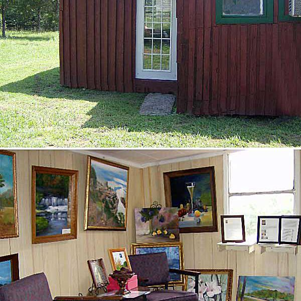 Painting studio and art gallery