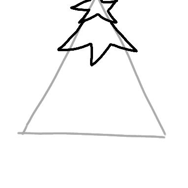Easy To Draw Christmas Tree.Draw A Christmas Tree Step By Step
