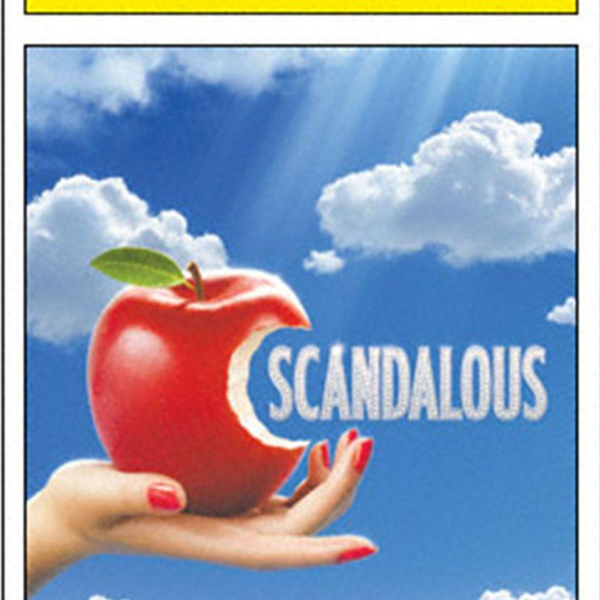 Scandalous Playbill cover