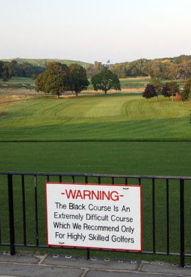 Bethpage Black Golf Course Warning Sign