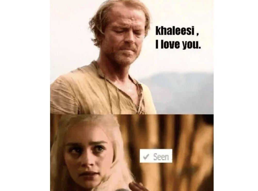 Jorah and Daenerys I love you meme