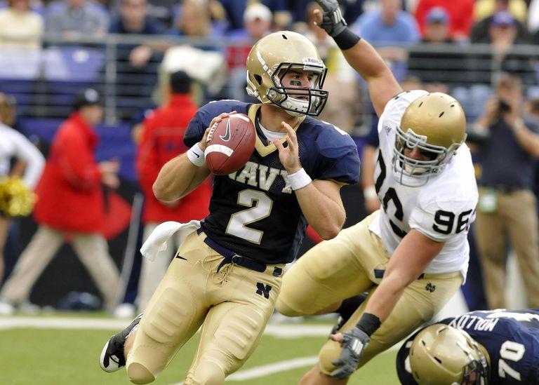 Navy quarterback during Notre Dame Game