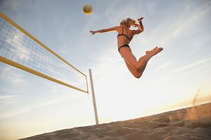 Back row attack volleyball