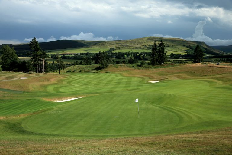 The 18th green and fairway on Gleneagles Centenary Course.
