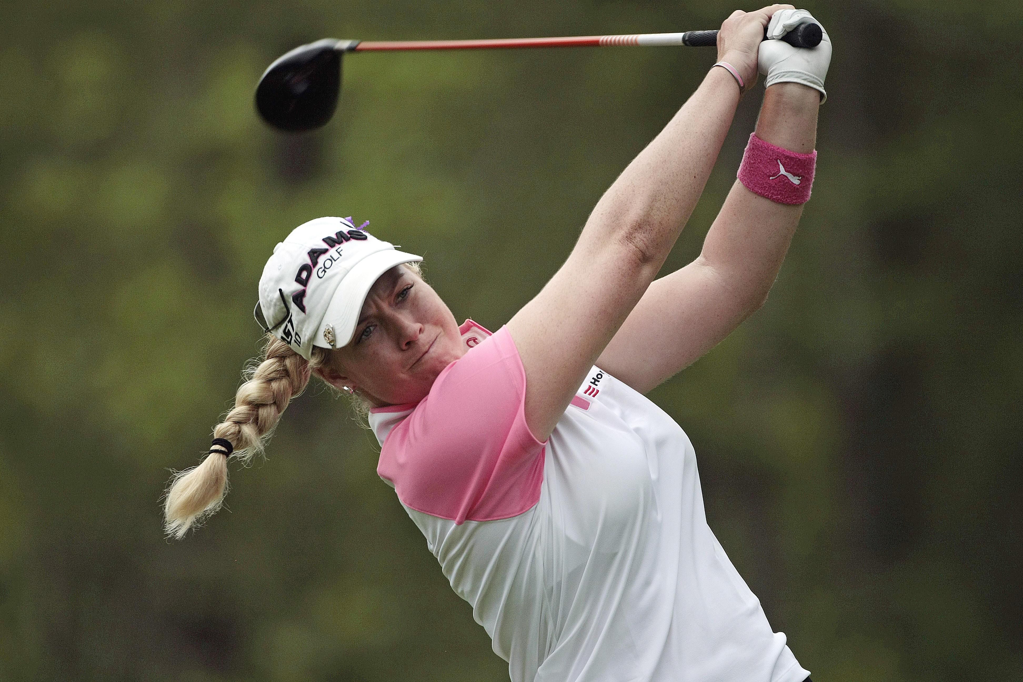 Brittany Lincicome hits a drive during the 2010 Bell Micro LPGA Classic