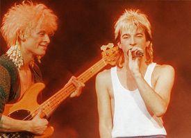 Kajagoogoo performs at Hammersmith Odeon in 1983