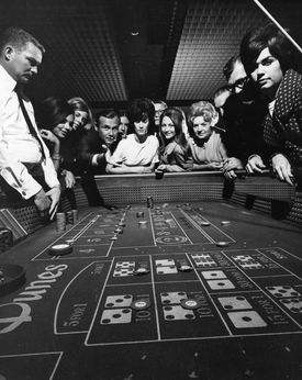 Dice game at the Dunes Hotel circa 1965