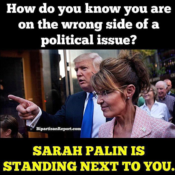 Sarah Palin Donald Trump Wrong Side